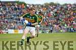 Patrick Warren Kerry in action against  Clare in the Munster Minor Football Final at Fitzgerald Stadium on Sunday.