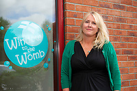 Pictured: Juliet Luporini co-owner of Window to the womb Friday 03 August 2018<br /> Re: The effect of increasing business rates and internet retail giant Amazon has had on the High Street in Swansea, Wales, UK.