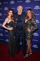 "01 August 2019 - Las Vegas, NV - Anne Martinez, Terry Bradshaw, Lorena Peril. Terry Bradshaw Debuts ""The Terry Bradshaw Show at Luxor Hotel and Casino. Photo Credit: MJT/AdMedia"