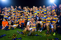 The Steamers celebrate winning the Mitre 10 Cup Championship rugby final between Bay Of Plenty Steamers and Hawkes Bay Magpies at Rotorua International Stadium, New Zealand on Friday, 25 October 2019. Photo: Dave Lintott / lintottphoto.co.nz