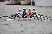 Henley, GREAT BRITAIN, Princess  Grace Challenge Cup, Bucks Station  Berks Station, Wallingford RC and Reading RC, Bow Sohpie HOSKING, Laura GREENHALGH, Andrea DENNIS and Jane HALL. 2008 Henley Royal Regatta  on Saturday, 05/07/2008,  Henley on Thames. ENGLAND. [Mandatory Credit:  Peter SPURRIER / Intersport Images] Rowing Courses, Henley Reach, Henley, ENGLAND . HRR