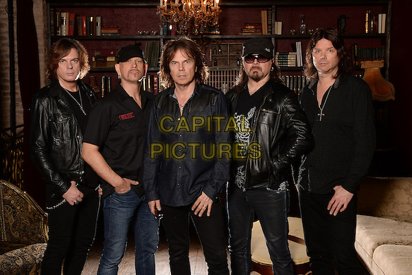 FORT LAUDERDALE FL - FEBRUARY 02: ***HIGHER RATES APPLY***  Ian Haugland, John Leven, Joey Tempest, Mic Michael and John Norum of Europe pose for a portrait at Revolution on February 2, 2016 in Fort Lauderdale, Florida. <br /> CAP/MPI04<br /> &copy;MPI04/Capital Pictures