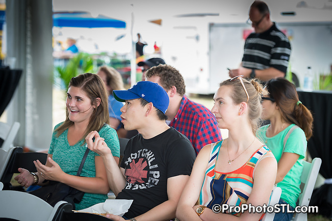 Taste of St. Louis food sampling event in Chesterfield, Missouri on Sep 18, 2015.