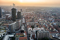Milano, aerial view