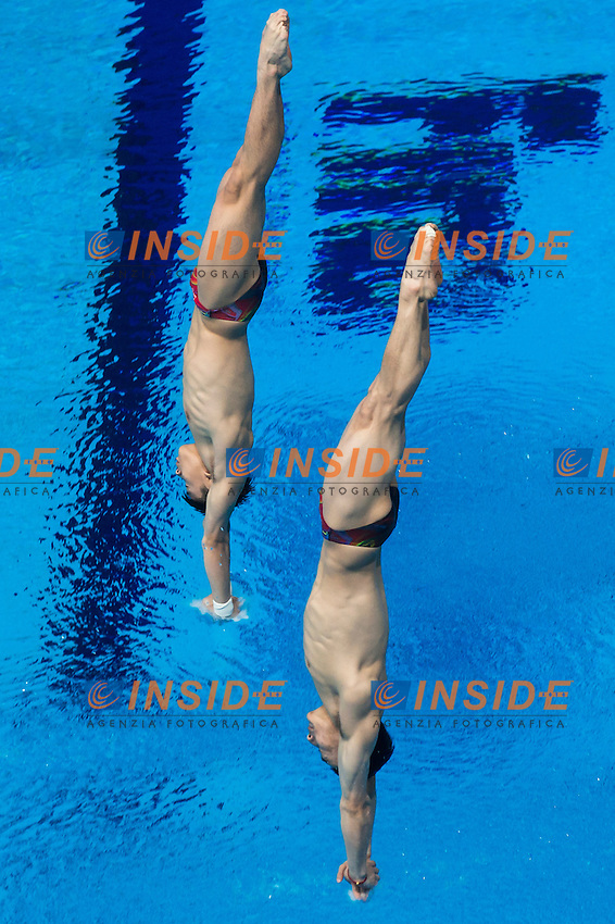 CAO Yuan and QIN Kai Team CHN<br /> Diving - Men's 3m synchronised springboard preliminaries<br /> Day 05 28/07/2015<br /> XVI FINA World Championships Aquatics Swimming<br /> Kazan Tatarstan RUS July 24 - Aug. 9 2015 <br /> Photo Giorgio Perottino/Deepbluemedia/Insidefoto