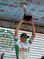 COLOMBIA. 17-08-2014. Oscar Sevilla Campeón general y por puntos de la Vuelta a Colombia 2014 en bicicleta que se cumple entre el 6 y el 17 de agosto de 2014. / Oscar Sevilla Overall Champion and for points of the Tour of Colombia 2014 in bike holds between 6 and 17 of August 2014. Photo:  VizzorImage/ José Miguel Palencia / Str