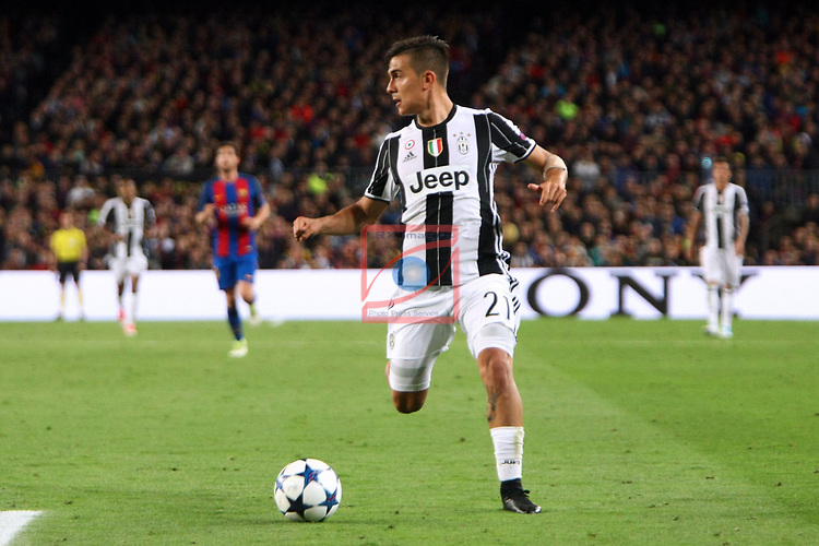 UEFA Champions League 2016/2017.<br /> Quarter-finals 2nd leg.<br /> FC Barcelona vs Juventus Football Club: 0-0.<br /> Paulo Dybala.