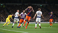 Manchester City's Nicolas Otamendi after going close with a first half header<br /> <br /> Photographer Rob Newell/CameraSport<br /> <br /> UEFA Champions League Quarter-finals 1st Leg - Tottenham Hotspur v Manchester City - Tuesday 9th April 2019 - White Hart Lane - London<br />  <br /> World Copyright © 2018 CameraSport. All rights reserved. 43 Linden Ave. Countesthorpe. Leicester. England. LE8 5PG - Tel: +44 (0) 116 277 4147 - admin@camerasport.com - www.camerasport.com