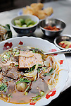 Asia, Vietnam, Ho Chi Minh City (Saigon). Pho Bo. Traditional noodle soup with a clice of beef served as delicious street food.