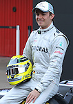 21.02.2012 Barcelona Spain. Formula One testind day1. Mercedes presents the F1 W03. German driver Nico Rosberg