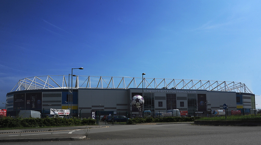 A general view of Cardiff City Stadium, venue of the 2017 UEFA Women's Champions League Final<br /> <br /> Photographer Ashley Crowden/CameraSport<br /> <br /> UEFA Women's Champions League Final - Lyon Women v Paris Saint-Germain Women - Thursday 1st June 2017 - Cardiff City Stadium<br />  <br /> World Copyright &copy; 2017 CameraSport. All rights reserved. 43 Linden Ave. Countesthorpe. Leicester. England. LE8 5PG - Tel: +44 (0) 116 277 4147 - admin@camerasport.com - www.camerasport.com