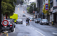 Ghuznee Street. Wellington CBD during lockdown for the COVID19 pandemic in Wellington, New Zealand on Friday, 3 April 2020. Photo: Dave Lintott / lintottphoto.co.nz