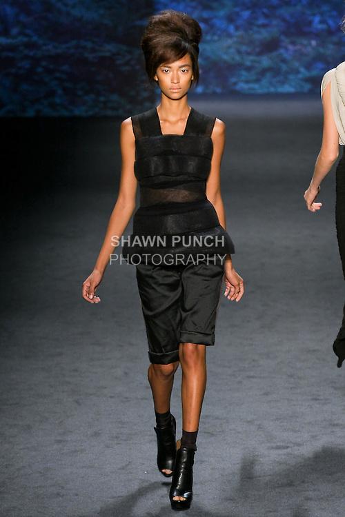 Model walks the runway
