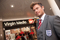 The crowd did a double-take as 'David Beckham' opened the new Virgin Media store at Westgate, Mansfield