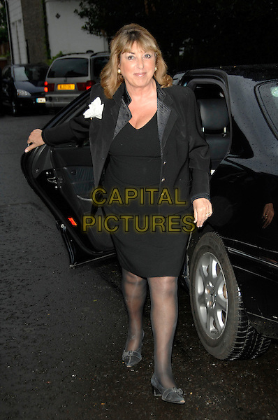 EVE POLLARD.David Frost's Summer Garden Party.5th July London, England.full length black dress jacket car .CAP/PL.©Phil Loftus/Capital Pictures