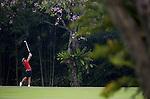 SINGAPORE - MARCH 07:  Yani Tseng of Taiwan plays her second shot on the par four 4th hole during the third round of HSBC Women's Champions at the Tanah Merah Country Club on March 7, 2009 in Singapore.  Photo by Victor Fraile / The Power of Sport Images
