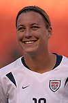 16 October 2004, Abby Wambach of the U.S. Women's National Team in their 1-0 defeat of Mexico at Arrowhead Stadium, Kansas City, Missouri..