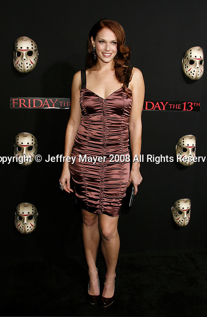 "HOLLYWOOD, CA. - February 09: Actress Amanda Righetti arrives at the Los Angeles premiere of ""Friday The 13th"" at Grauman's Chinese Theater on February 9, 2009 in Hollywood, California."