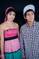 Teenage couple Erik Eli Dariano and Beatriz Medina Vargas, (17 and ?). Portraits of Adolescents San Cosme skate park, in Mexico City. Releases # 17 and 18