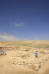 Israel, Negev. The Cult Basin and the Altar at the Sacred Precint OF the lower city in Tel Arad
