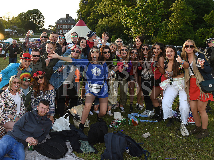 Locals from Termonfeckin and Clogherhead at the Vantastival Festival at Beaulieu House.  Photo:Colin Bell/pressphotos.ie