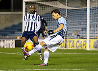 Scott Kashket of Wycombe Wanderers during the Checkatrade Trophy round two Southern Section match between Millwall and Wycombe Wanderers at The Den, London, England on the 7th December 2016. Photo by Liam McAvoy.
