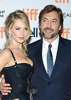 10 September 2017 - Toronto, Ontario Canada - Jennifer Lawrence, Javier Bardem. 2017 Toronto International Film Festival - &quot;mother!&quot; Premiere held at TIFF Bell Lightbox. <br /> CAP/ADM/BPC<br /> &copy;BPC/ADM/Capital Pictures
