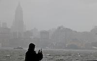 A geral view of Hudson River as Hurricane Sandy begins to affect the area in Hoboken United States. 29/10/2012. Photo by Kena Betancur/VIEWpress..