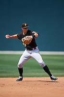 Pittsburgh Pirates Kevin Newman (23) during a minor league Spring Training game against the New York Yankees on March 26, 2016 at Pirate City in Bradenton, Florida.  (Mike Janes/Four Seam Images)