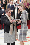 Queen Letizia of Spain delivers the Infanta Sofia Award, to the person or entity acting on their own sport or encouraging other activity has been especially prominent in the dissemination and improvement of sporting activity among the physical, mental or sensory disabilities, Special Hockey Plus. November 17, 2015. (ALTERPHOTOS/Acero)