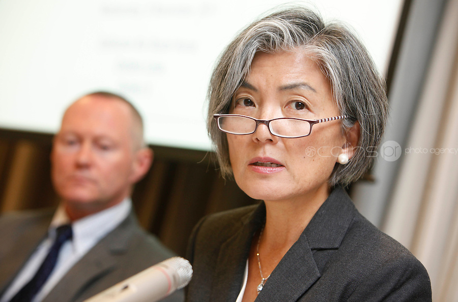 *** NO FEE PIC***.09/11/2011.(L to r).Prof Michael O' Flahery Chief Commissioner, Northern Ireland Human Rights Commission & Member of the UN Human Rights Committee &.Kyung- Wha Kang, Deputy High Commisioner for Human Rights, Office of the UN High Commisioner for Human Rights,.during an Amnesty International Ireland & the Irish Council for Civil Liberties Information evening on the 'Dublin Process' of Treaty Body Reform at the Radisson Blu Royal Hotel, Golden Lane, Dublin..Photo: Gareth Chaney Collins.during an Amnesty International Ireland & the Irish Council for Civil Liberties Information evening on the 'Dublin Process' of Treaty Body Reform at the Radisson Blu Royal Hotel, Golden Lane, Dublin..Photo: Gareth Chaney Collins