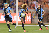 Houston Texas - Casey Short (6) of the Chicago Red Stars clears the ball from her side of the field in the first half against the Houston Dash on Saturday, April 16, 2016 at BBVA Compass Stadium in Houston Texas.  The Houston Dash defeated the Chicago Red Stars 3-1.