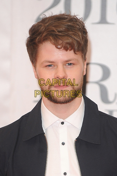 LONDON, ENGLAND - FEBRUARY 24: Jay McGuiness attends the Brit Awards 2016 at The O2 Arena in London on February 24, 2016 in London, England.<br /> CAP/BEL<br /> &copy;Tom Belcher/Capital Pictures