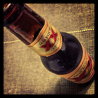 A bottle of Dos Equis sits on the kitchen table, ready to be drunk with dinner on February 7, 2013.