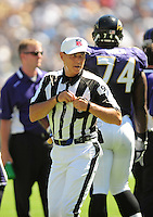 Sep. 20, 2009; San Diego, CA, USA; NFL referee (99) Tony Corrente during the game between the San Diego Chargers against the Baltimore Ravens at Qualcomm Stadium in San Diego. Baltimore defeated San Diego 31-26. Mandatory Credit: Mark J. Rebilas-