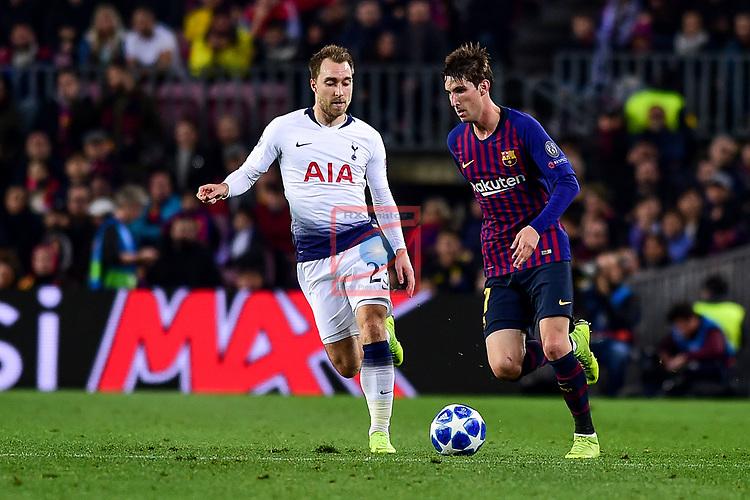UEFA Champions League 2018/2019 - Matchday 6.<br /> FC Barcelona vs Tottenham Hotspur FC: 1-1.<br /> Eriksen vs Miranda.