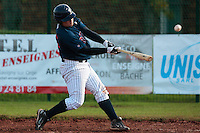 16 October 2010: David Gauthier of Rouen makes contact during Rouen 16-4 win over Savigny, during game 1 of the French championship finals, in Savigny sur Orge, France.