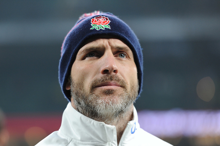 Paul Gustard, England Defence Coach, during the RBS 6 Nations match between England and Wales at Twickenham Stadium on Saturday 12th March 2016 (Photo: Rob Munro/Stewart Communications)