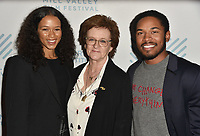 SAN RAFAEL, CA - OCTOBER 07: Taylor Russell, Zoe Elton and Kelvin Harrison Jr. arrive at the Centerpiece Film 'Waves' during the 42nd Mill Valley Film Festival at Christopher B. Smith Rafael Film Center on October 9, 2019 in San Rafael, California. Photo: imageSPACE for the Mill Valley Film Festival/MediaPunch