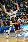 SALEM, VA - MARCH 17: Nebraska Wesleyan Prairie Wolves forward Ryan Garver (23) drives to the basket defended by Wisconsin-Oshkosh Titans guard David Vlotho (3) during the Division III Men's Basketball Championship held at the Salem Civic Center on March 17, 2018 in Salem, Virginia. Nebraska Wesleyen defeated Wisconsin-Oshkosh 78-72 for the national title. (Photo by Andres Alonso/NCAA Photos/NCAA Photos via Getty Images)