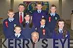 Tiernaboul NS pupils who made their Confirmation in the Church of the Resurrection Killarney on Friday front row l-r: Eamon Lavin, Bishop Bill Murphy, Marie Lynch. Back row: Cieran Spillane, Denis Linehan Principal, Sheriene Acun, Evan Cronin, Neil Ardener, Tommy Carroll and David Carroll