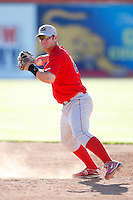 June 22, 2009:  Shortstop Jeremy Barnes of the Williamsport Crosscutters during a game at Dwyer Stadium in Batavia, NY.  The Crosscutters are the NY-Penn League Short-Season Single-A affiliate of the Philadelphia Phillies.  Photo by:  Mike Janes/Four Seam Images
