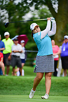 Inbee Park (KOR) watches her tee shot on 2 during Friday's round 2 of the 2017 KPMG Women's PGA Championship, at Olympia Fields Country Club, Olympia Fields, Illinois. 6/30/2017.<br /> Picture: Golffile | Ken Murray<br /> <br /> <br /> All photo usage must carry mandatory copyright credit (&copy; Golffile | Ken Murray)