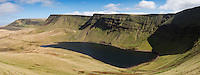 Llyn Y Fan Fach and Carmarthen Fans, Black Mountain, Brecon Beacons national park, Wales