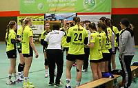 Teambesprechung SG WBW - 10.03.2019: SG Weiterstadt/Braunshardt/Worfelden vs. HC Leipzig, Sporthalle Braunshardt