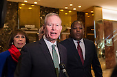 Mayor Mick Cornett (Republican of Oklahoma City, Oklahoma) speaks to the press following his meeting with United States President-elect Donald Trump in the lobby of Trump Tower in New York, NY, USA December 15, 2016. <br /> Credit: Albin Lohr-Jones / Pool via CNP