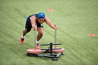Ben Tapuai of Bath Rugby in action. Bath Rugby pre-season S&C session on June 22, 2017 at Farleigh House in Bath, England. Photo by: Patrick Khachfe / Onside Images