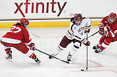 Monika Leck (Cornell - 27), Dana Trivigno (BC - 8), Cassandra Poudrier (Cornell - 5) - The Boston College Eagles defeated the visiting Cornell University Big Red 4-3 (OT) on Sunday, January 11, 2012, at Kelley Rink in Conte Forum in Chestnut Hill, Massachusetts.