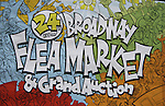 Poster of The 24th Annual Broadway Flea Market & Grand Auction to benefit Broadway Cares/Equity Fight Aids on September 26, 2010 in Shubert Alley, New York City, New York. (Photo by Sue Coflin/Max Photos)