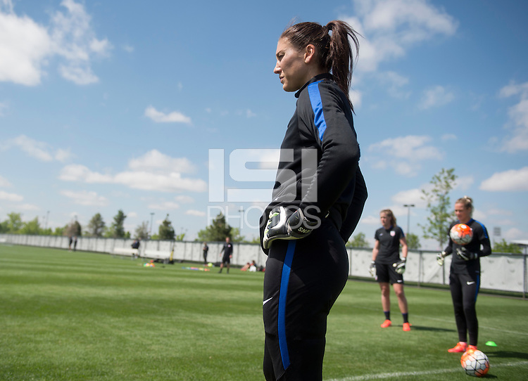 Denver, CO - May 31, 2016: The USWNT trains in preparation for their friendly match against Japan at Dick's Sporting Goods Park.